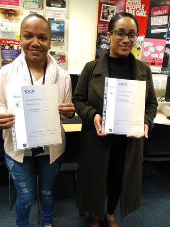 Mishayla and Bonique - Lewisham Council L4 A and G